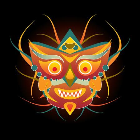 mask on black background Vector