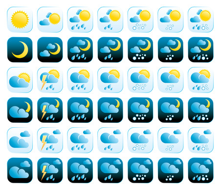 set of weather icons Stock Vector - 6994263