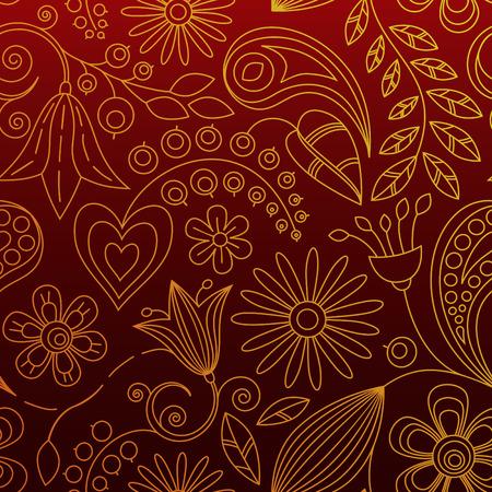 Seamless Flower Wallpaper Ilustrace
