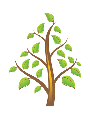 Tree on White Background Stock Vector - 6994233