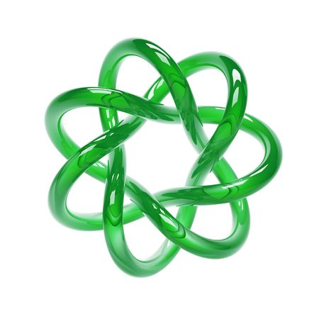 green torus isolated on white photo