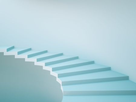 Spiral Staircase Background. Concept Illustration illustration