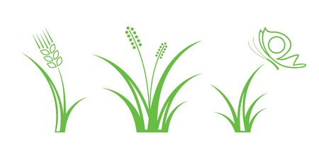 Green Nature Icons. Part 1 - Grass Stock Vector - 6994332