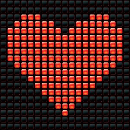 illustration of dotted valentine Vector