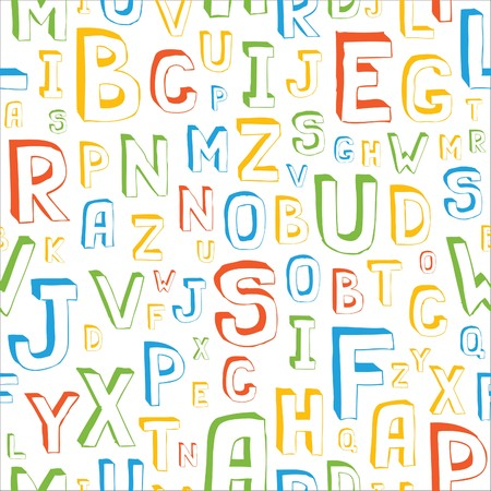 penman: Seamless Alphabet Pattern on White
