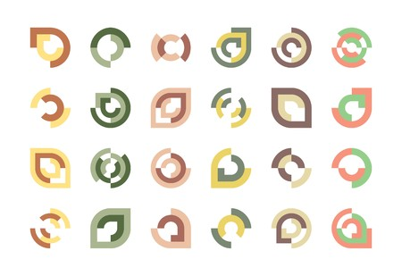 logo logotype: Design Elements or Logos on White Background