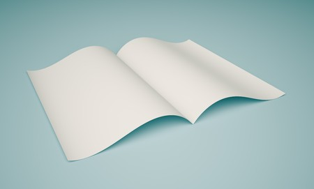 Opened Book on Blue Background Stock Photo - 7041402