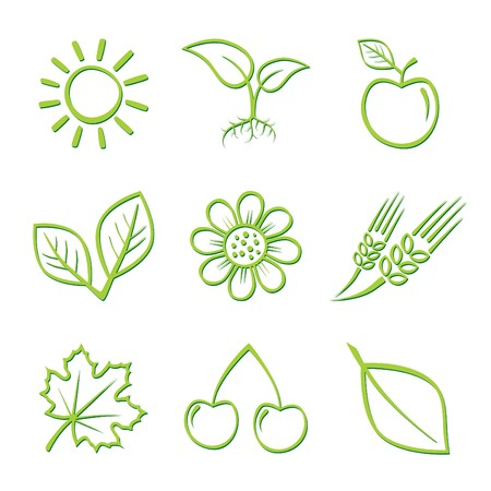 Nature Icons Stock Vector - 7132330