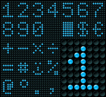 led display: Digits and Symbols