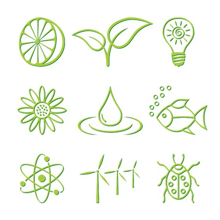 Nature Icons Stock Vector - 7132333