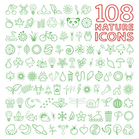 sun protection: Iconos de la naturaleza