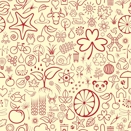 Seamless Nature Wallpaper Stock Vector - 7130146