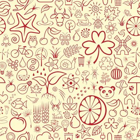 Seamless Nature Wallpaper Vector