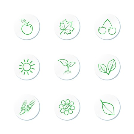 Nature Icon Set Stock Vector - 7101732