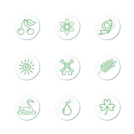 Nature Icon Set Stock Vector - 7101721