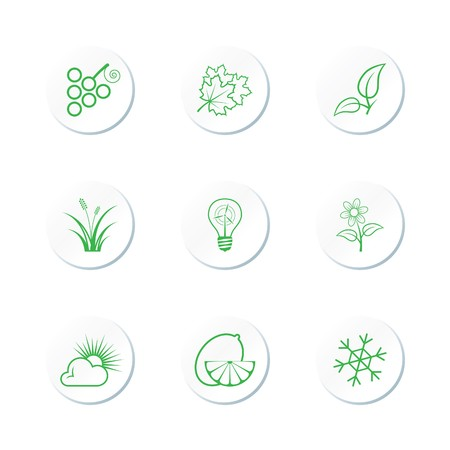Nature Icon Set Stock Vector - 7101735