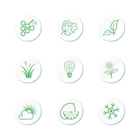 Nature Icon Set Stock Vector - 7101735