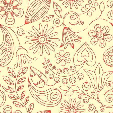 Seamless Floral Background Stock Vector - 7101781