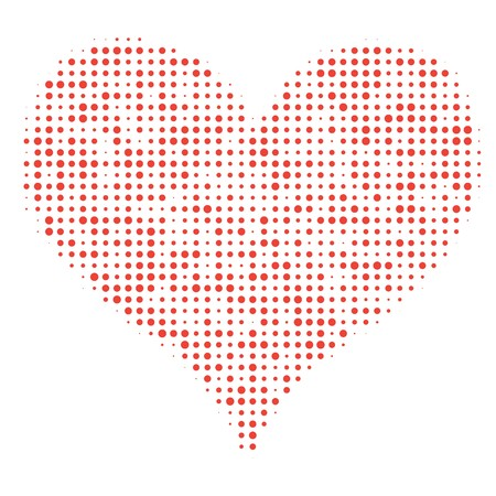 Dotted Heart on White Vector