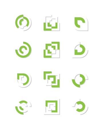 logo informatique: Ensemble de logo ou des �l�ments de conception