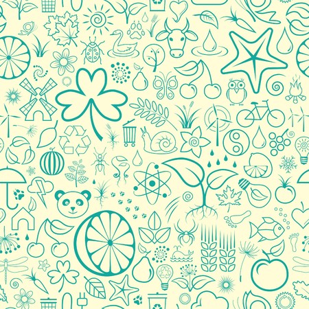 Nature Seamless Wallpaper Vector