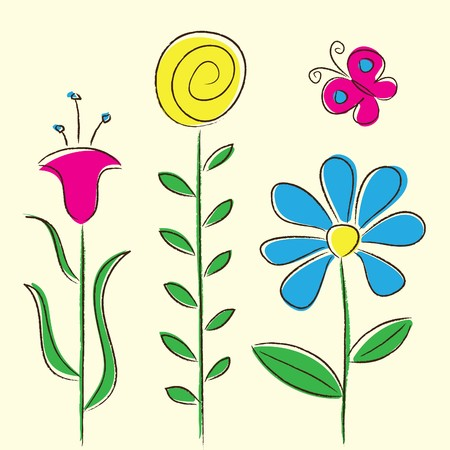 Flowers Card Stock Vector - 7101822