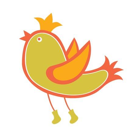 Bird on White Background Vector