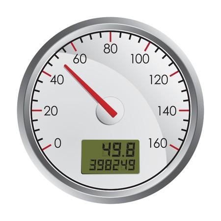 gagant: Indicateur de vitesse sur fond blanc