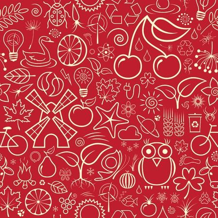 Nature Seamless Wallpaper Vector