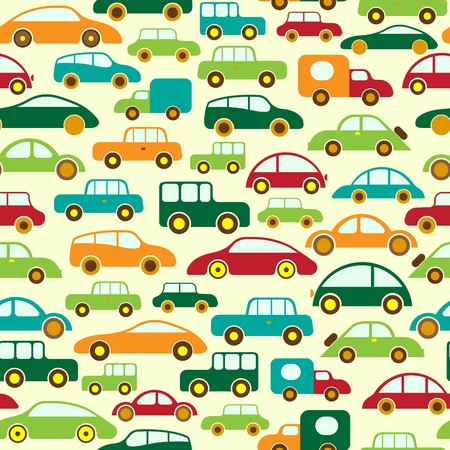 wrappers: Car Seamless Wallpaper or Background Illustration