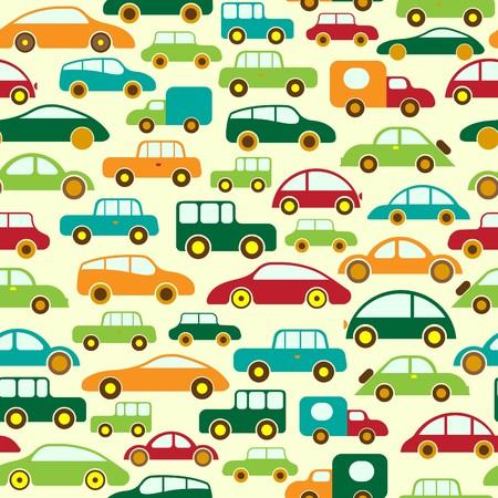 cartoon car: Sin problemas de coche Wallpaper o fondo  Vectores