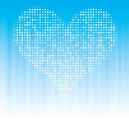 Heart on Black Background Vector