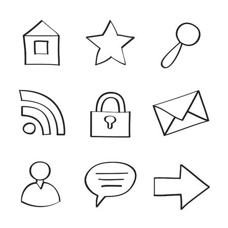 Web Icons on White Background Stock Vector - 7640030