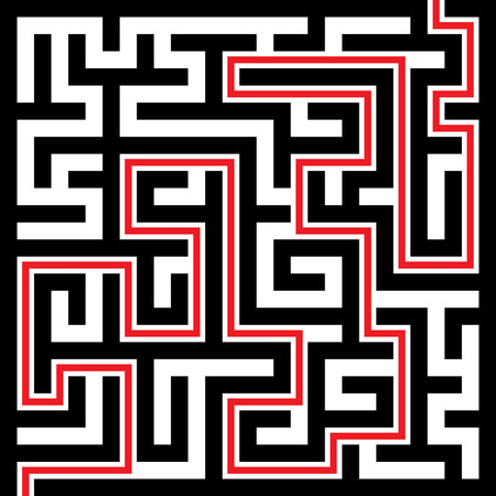 puzzle corners: Illustration of Maze or Labyrinth Background