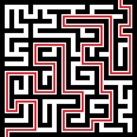 riddles: Illustration of Maze or Labyrinth Background