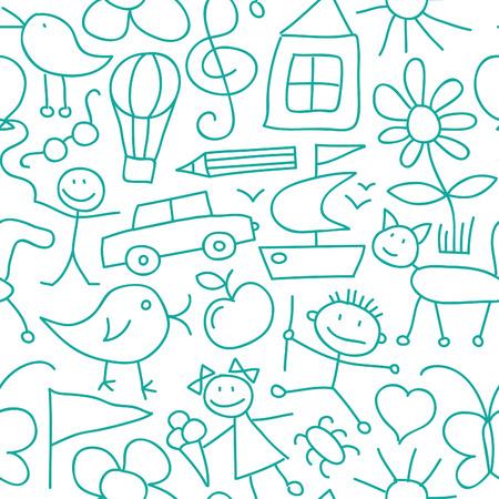 car pattern: Seamless Kid Pattern or Background