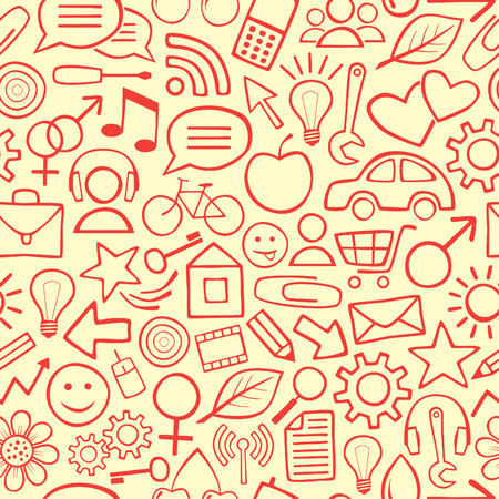 Red Seamless Background or Wallpaper Vector