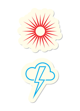 Weather Icons Isolated on White Stock Vector - 7679830