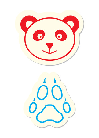 Panda Icon isolated on White Vector