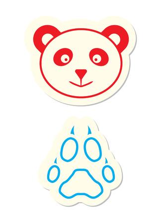 Panda Icon isolated on White