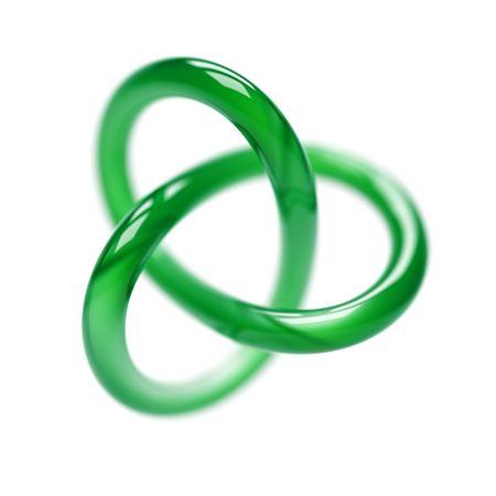 Green Torus Isolated on White photo