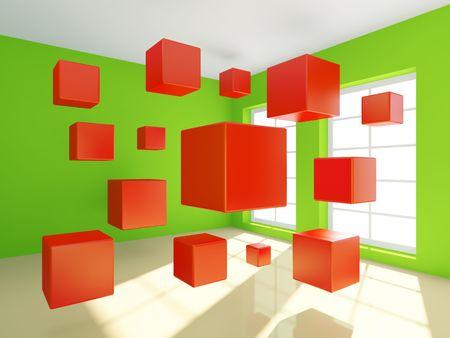 3d Illustration of Abstract Interior Stock Illustration - 7679877