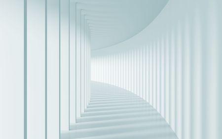 3d Illustration of Long Corridor  Stock Illustration - 7679920