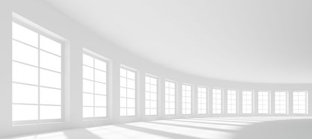 real estate background: 3d Large Hall with Windows