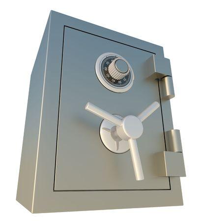 safe box: Bank Safe Isolated on White Background