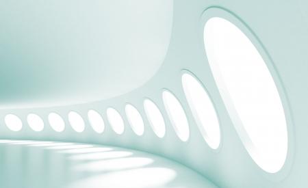 futuristico: Stazione spaziale o architettura moderna