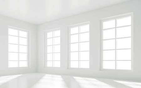 modern living room: Empty White Room