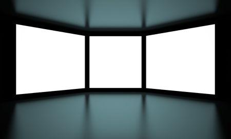 hall monitors: White Screens on Black Background