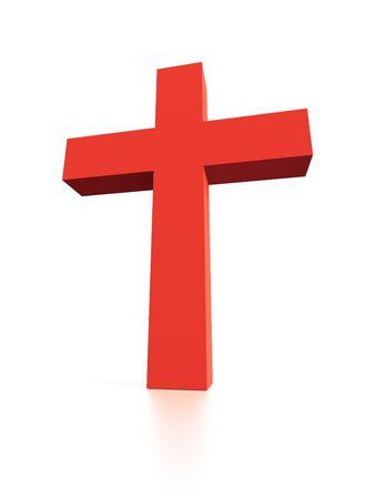 Cross. Caption = Losse op wit