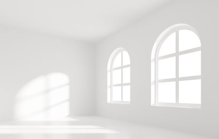 White Room with Windows Stock Photo - 7852248
